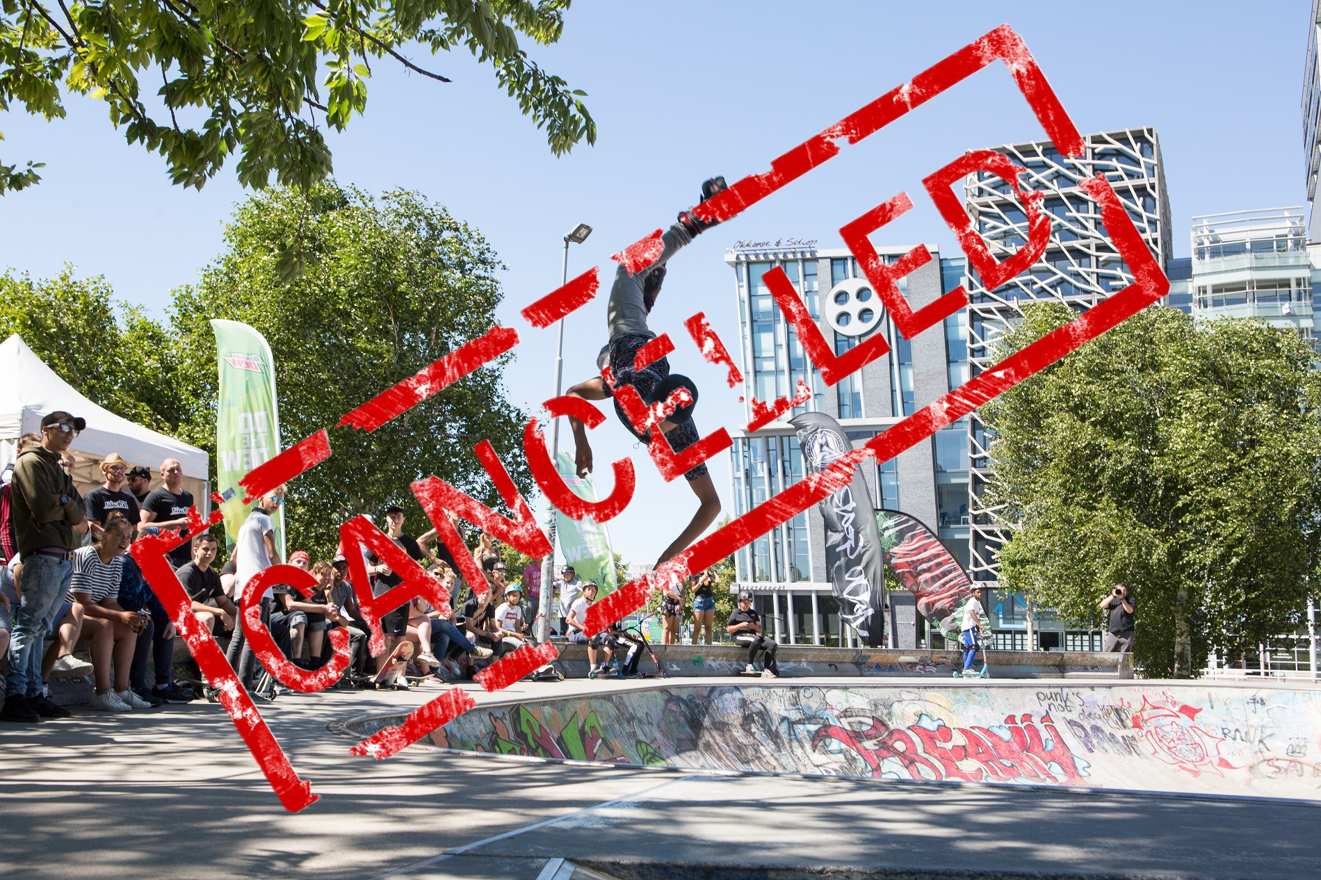 Aantal events skateparktour Own the Spot gecanceld