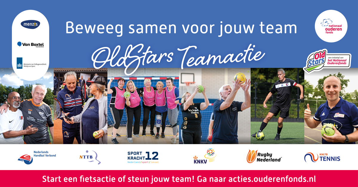 Oldstars Teamactie - 26 september t/m 2 oktober